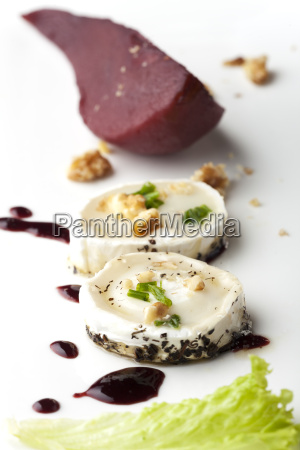 red wine pears and goats cheese