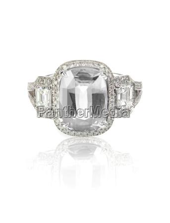 diamond solitaire engagment emerald cut wedding
