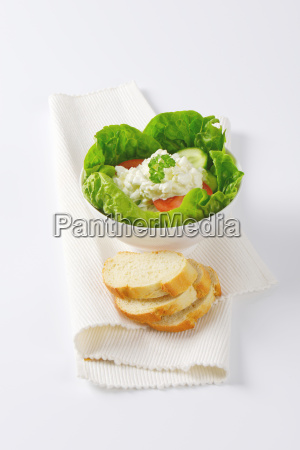 vegetable salad with cottage cheese