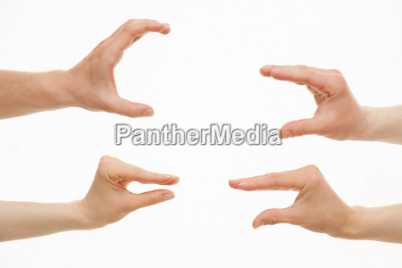 hands showing different sizes from