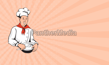 business card chef cook baker mixing