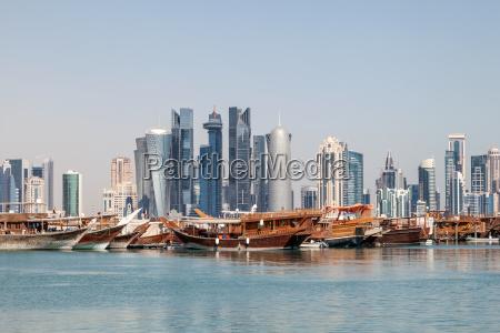 doha city skyline qatar