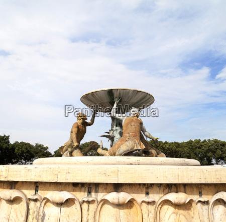 triton fountain in capital of malta