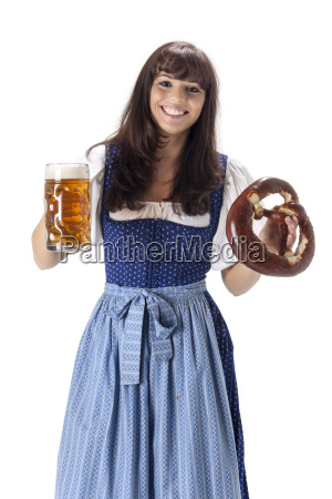 bavarian woman with measure and breze