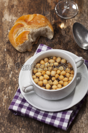 fresh soup with soup beads