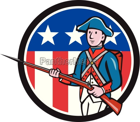 american soldier marching rifle usa flag