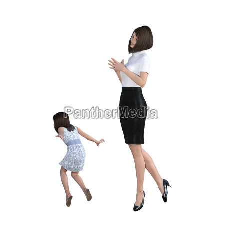 mother daughter interaction of helping with