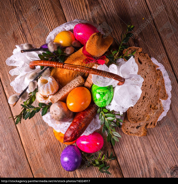 basket, of, food - 16324917