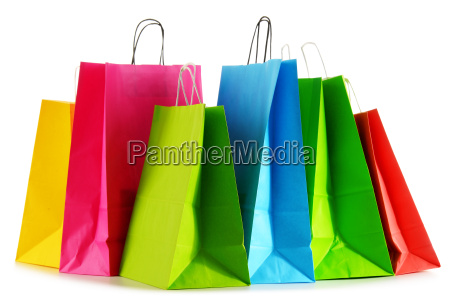 colorful, paper, shopping, bags, isolated, on - 16324819