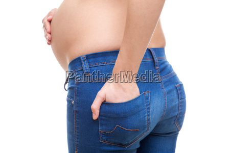 pregnant, woman, wearing, sexy, jeans - 16324159