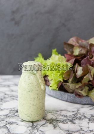 yogurt, dressing, with, fresh, salad - 16324129