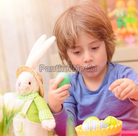 cute, boy, enjoy, easter, holiday - 16325889