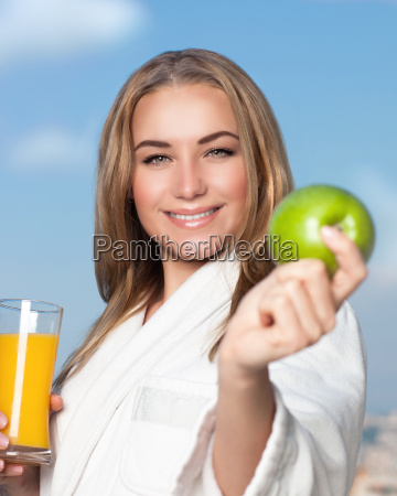 healthy, eating, woman - 16325911