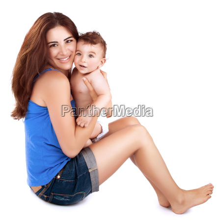 mother, playing, with, baby - 16325943