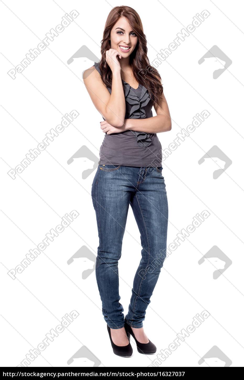cute, lady, posing, to, camera - 16327037