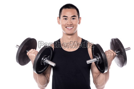 lifting, dumbbells, improves, biceps! - 16327343