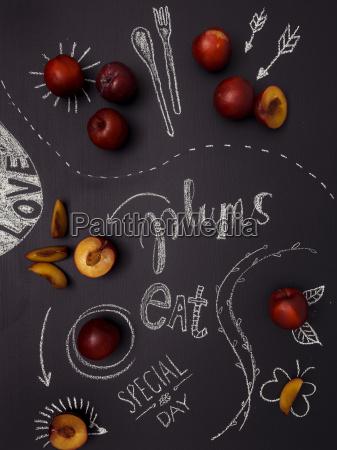 plums, on, black, underground - 16327913