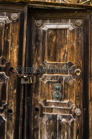 italy comacchio old door with chain