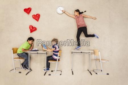 school children having a crush on