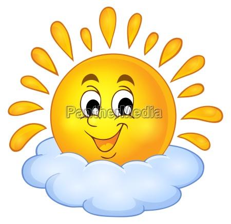 cheerful sun theme image 1