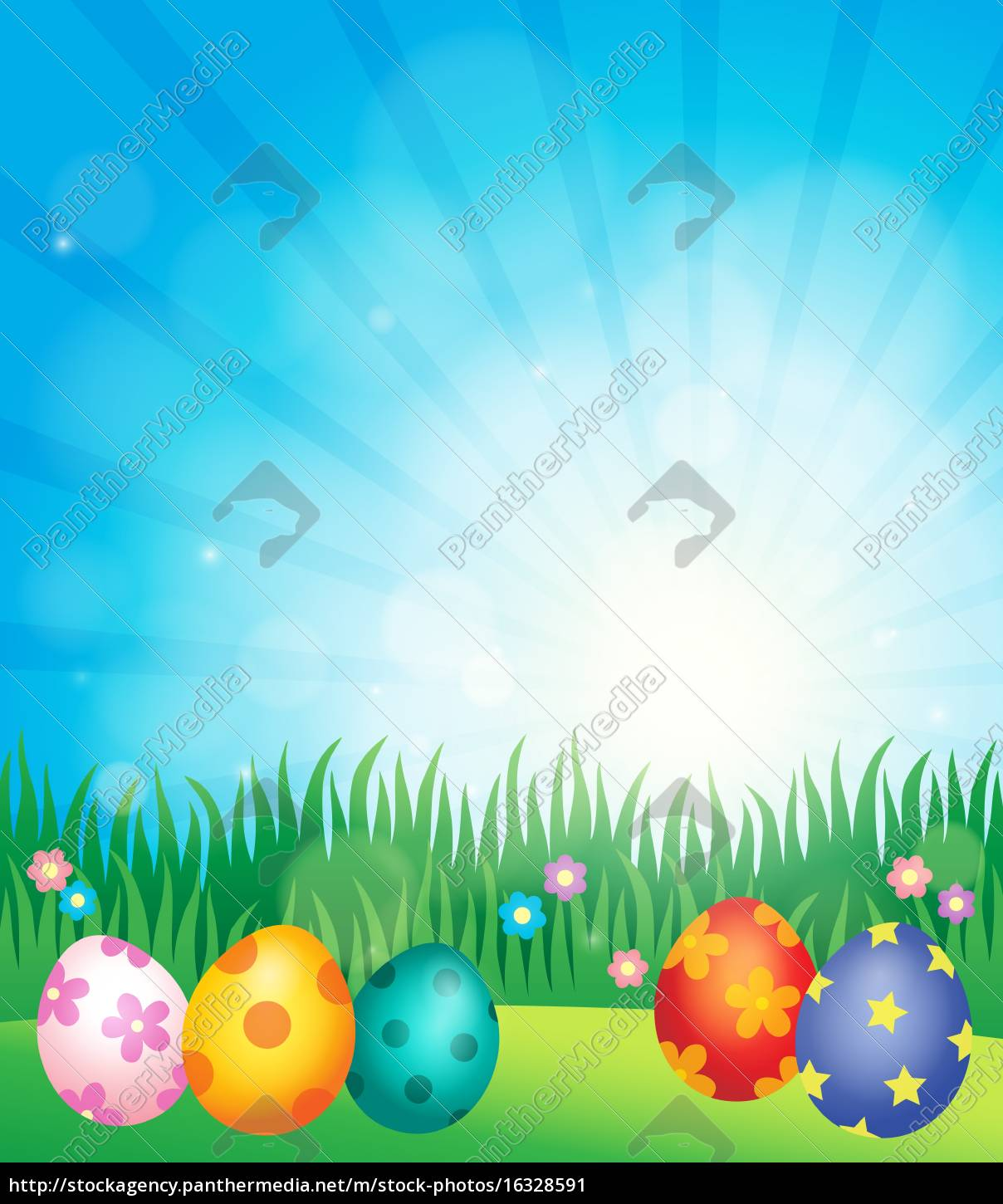 decorated, easter, eggs, theme, image, 5 - 16328591