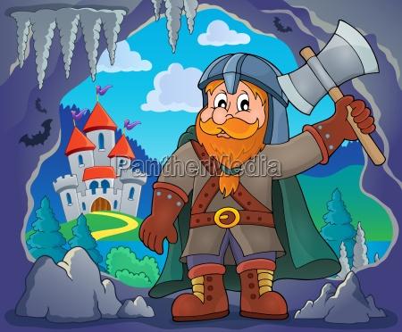 dwarf, warrior, theme, image, 3 - 16328615