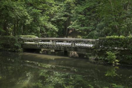 japan kyoto stone bridge in the