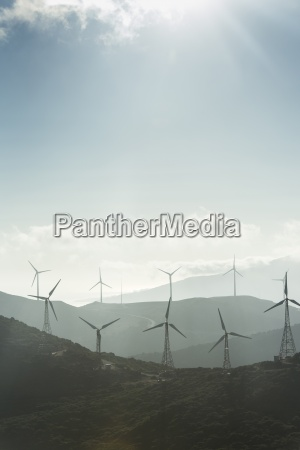 spain andalusia tarifa wind farm against
