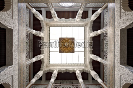 morocco fes skylight at entrance hall