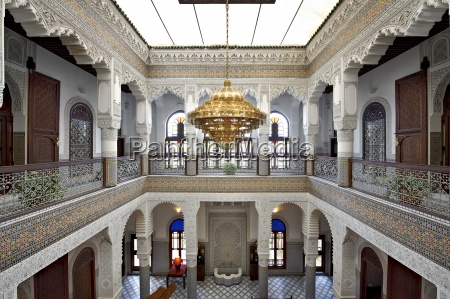 morocco fes entrance hall of hotel