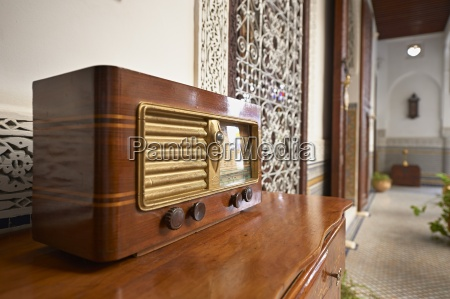 morocco fes old radio on a