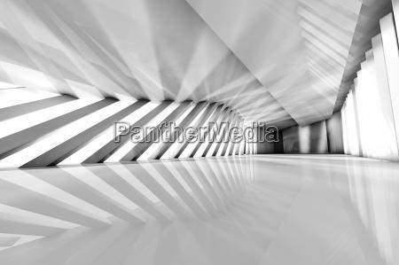 futuristic empty room 3d rendering