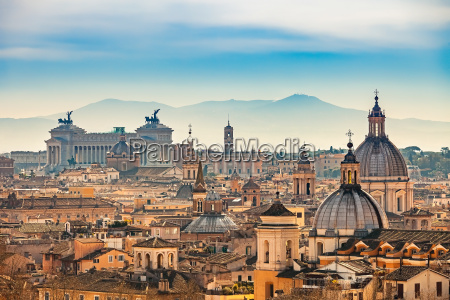 aerial view on rome italy