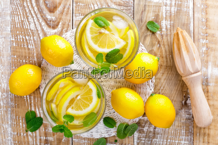 summer, citrus, lemonade, drink, with, fresh - 16338591