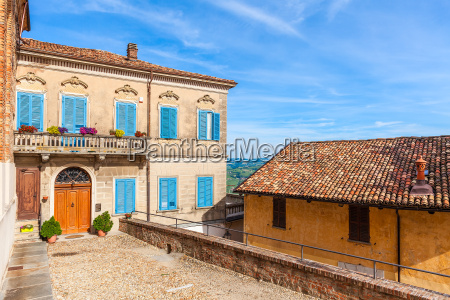 colorful house in small italian town