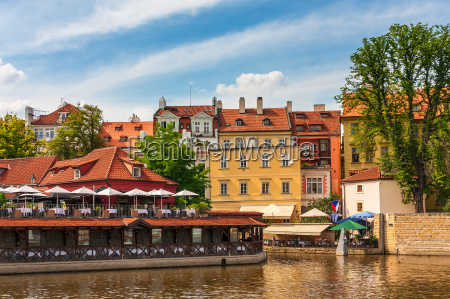 colorful houses of prague
