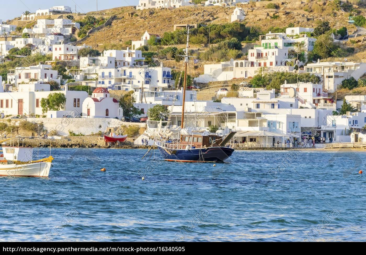 chora, port, , mykonos, , greece - 16340505