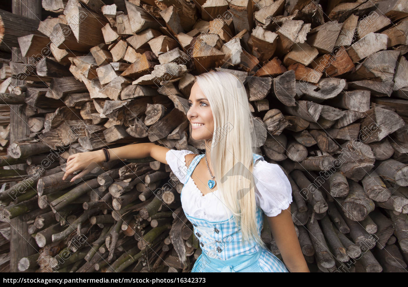 blonde, woman, in, a, dirndl - 16342373
