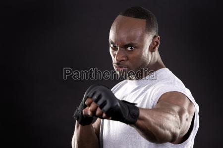 fitness, man, on, dark, background - 16342295