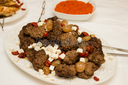 catering food meatballs