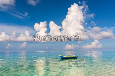 beautiful, ocean, beach, and, boat - 16344719
