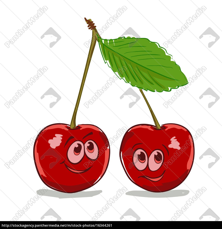 cartoon, cherry - 16344261