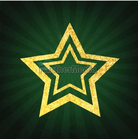 gold glitter star