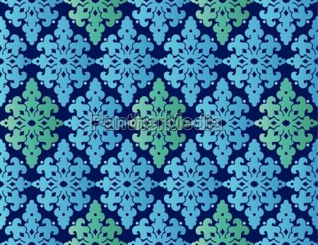 antique, ottoman, turkish, pattern, vector, design - 16345837