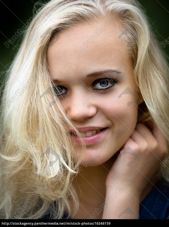 beautiful, young, blond, teenage, girl, wearing - 16346159