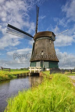 netherlands north holland volendam windmill