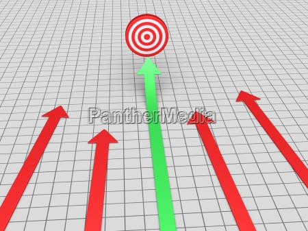 arrow, finds, target - 16347245