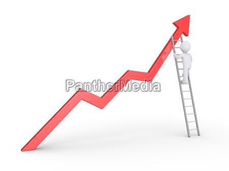 businessman, climbs, to, top - 16347265