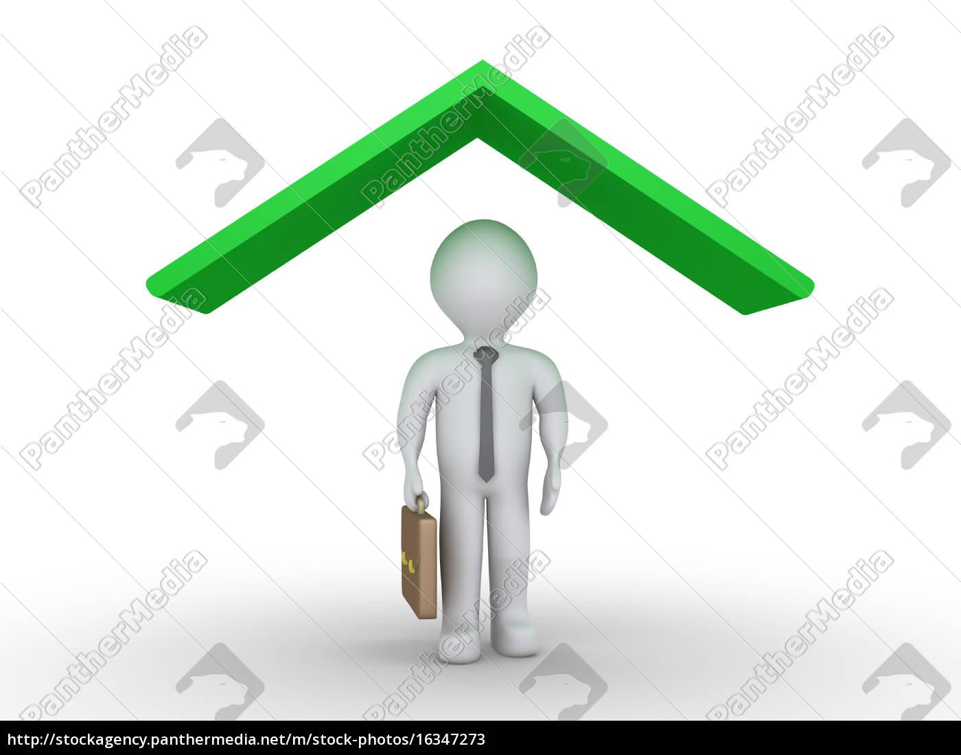 businessman, under, roof - 16347273