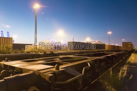 germany hamburg railway yard freight train